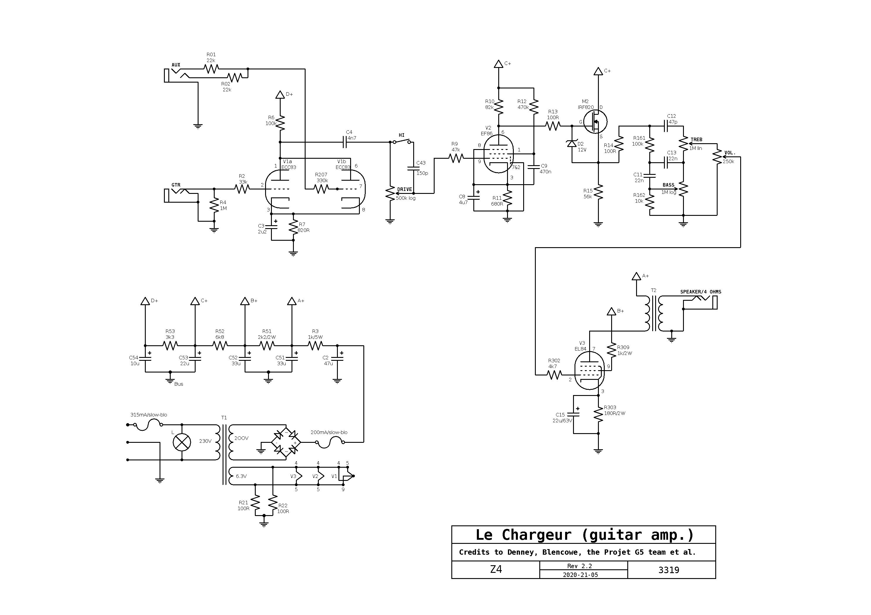 le Chargeur (yet another EF86 AC4 kind of amp) - The Amp Garage on fender pro 185 schematic, fender pro reverb schematic, fender champ schematic aa764, fender jaguar schematic, fender m80 schematic, fender footswitch schematic, 59 fender champ schematic, fender excelsior schematic, fender pro amp schematic,